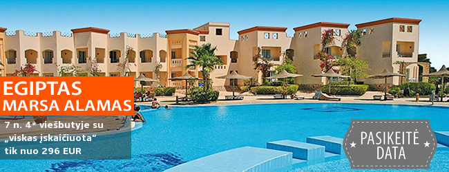 """Šeimos poilsis Marsa Alamo regione, EGIPTE! Savaitė 4* viešbutyje ant jūros kranto su """"viskas įskaičiuota"""" – tik nuo 329 EUR! Kelionės data: 2018 m. gruodžio 8 d."""