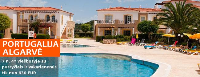 Vaizdingos atostogos ramybės oazėje ALGARVĖS regione, Portugalijoje! Savaitė  žalumos apsuptame 4* viešbutyje su pusryčiais ir vakarienėmis - nuo 499 EUR! Kelionės data: 2018 m. rugsėjo 30 d.