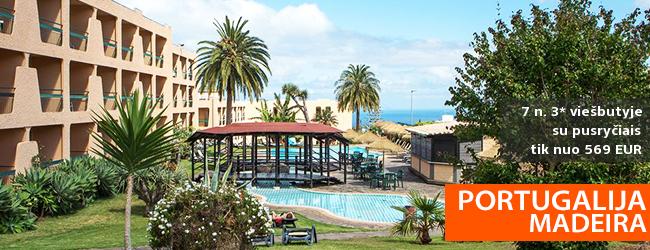 Praleiskite nuostabias atostogas vaizdingoje MADEIROS saloje, Portugalijoje! Savaitė  4* viešbutyje su pusryčiais - nuo 492 EUR! Kelionės data: 2019 m. kovo 26 d.