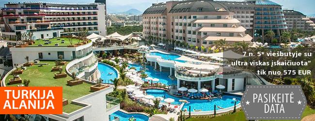 """Atostogos dideliame ir šiuolaikiškame 5* viešbutyje Turkijoje! 7 n. LONG BEACH RESORT HOTEL & SPA DELUXE su """"ultra viskas įskaičiuota"""" - tik nuo 316 EUR! Kelionės data: 2019 m. balandžio 11 d."""