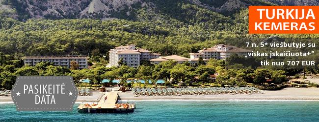 """Atostogaukite prabangioje pasakoje ant vaizdingo jūros kranto TURKIJOJE! Savaitės poilsis labai gerame 5* viešbutyje AKKA ANTEDON HOTEL su """"ultra viskas įskaičiuota"""" - tik nuo 522 EUR! Išvykimas: 2018 m. spalio 22 d."""