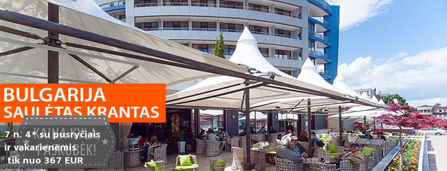 Modernus poilsis Bulgarijoje netoli paplūdimio! Savaitė kokybiškame 4* viešbutyje su pusryčiais ir vakarienėmis - tik nuo 417 EUR! Kelionės data: 2018 m. rugsėjo 7 d.