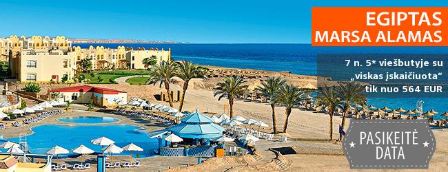 """Saulėtos atostogos Marsa Alamo regione, EGIPTE! Savaitė 5* viešbutyje ant jūros kranto su """"viskas įskaičiuota"""" – tik nuo 359 EUR! Kelionės data: 2018 m. gruodžio 15 d."""
