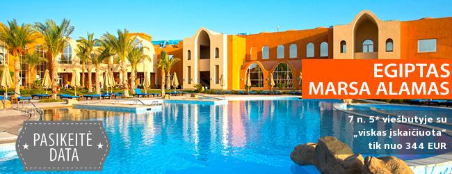 """Atostogos saulėtame EGIPTE, Marsa Alamo regione! Savaitės poilsis gerai vertinamame 5* viešbutyje su """"viskas įskaičiuota"""" – tik nuo 344 EUR! Kelionės data: 2018 m. gruodžio 8 d."""