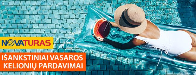 """""""Novaturo"""" išankstiniai 2019 m. vasaros kelionių pardavimai prasidėjo! Įsigykite atostogas į TURKIJĄ, GRAIKIJĄ IR BULGARIJĄ! Geriausios sąlygos iki 10.03"""