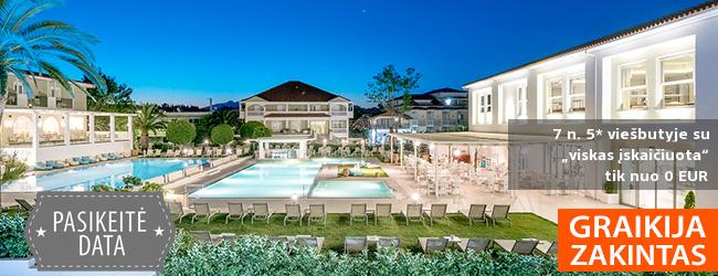 """Romantiškoms atostogoms rinkitės gražiąją ZAKINTO salą! Savaitės poilsis elegantiškame 5* viešbutyje su """"viskas įskaičiuota"""" – tik nuo 449 EUR! Kelionės data: 2019 m. gegužės 28 d."""