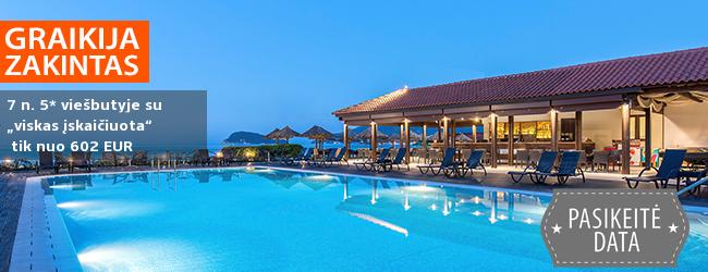 """Šeimos atostogos vaizdingoje Zakinto saloje, GRAIKIJOJE! 7 n. poilsis elegantiškame 5* viešbutyje ant jūros kranto su """"viskas įskaičiuota"""" – nuo 502 EUR! Kelionės data: 2019 m. gegužės 28 d."""