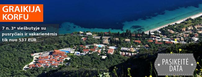 Vaizdingos atostogos KORFU saloje! Praleiskite savaitę 3* viešbutyje PANTOKRATOR HOTEL su pusryčiais ir vakarienėmis – nuo 381 EUR! Kelionės data: 2019 m. rugsėjo 9 d.