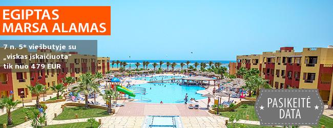 """Džiaukitės saule bei puikiu oru EGIPTE! 7 n. Marsa Alamo kurorte, 5* viešbutyje ROYAL TULIP BEACH RESORT su """"viskas įskaičiuota"""" – nuo 329 EUR! Kelionės data: 2018 m. gruodžio 18 d."""
