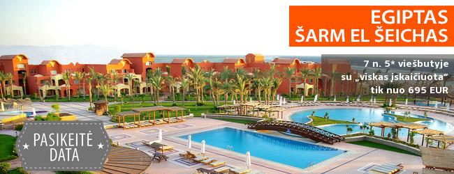 """Smagios žiemos atostogos prie jūros EGIPTE! Savaitė 5* viešbutyje GRAND PLAZA RESORT su """"viskas įskaičiuota"""" – tik nuo 399 EUR! Kelionės data: 2019 m. sausio 9 d."""