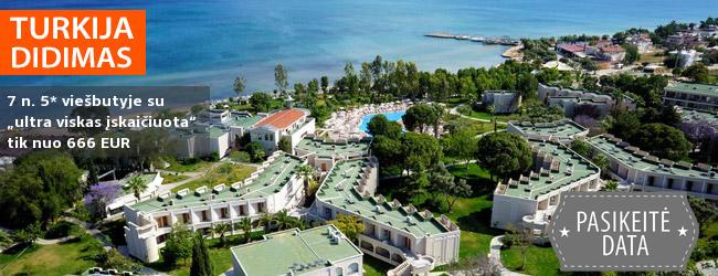 """Pramogaukite prie jūros TURKIJOJE, Didimo regione! Smagios atostogos 5* viešbutyje AURUM SPA & BEACH RESORT su """"ultra viskas įskaičuota"""" – nuo 376 EUR! Kelionės data: 2019 m. gegužės 16 d."""