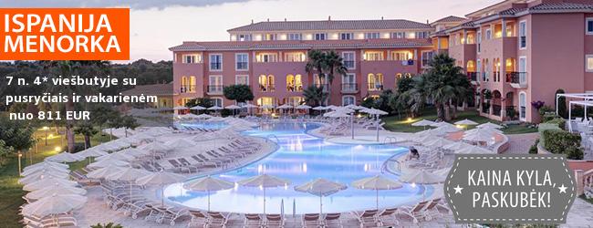 Saulėtas poilsis MENORKOS saloje, Ispanijoje! Savaitė 4* viešbutyje MACARELLA su pusryčiais ir vakarienėmis – nuo 456 EUR! Kelionės data: 2019 m. rugsėjo 21 d.