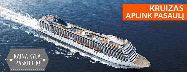 Leiskitės į nepamirštamą gyvenimo kelionę kruiziniu laivu APLINK PASAULĮ! 118 nakvynių prabangiame laive MSC POESIA – nuo 12999 EUR! Išvykimas: 2021 m. sausio 7 d.