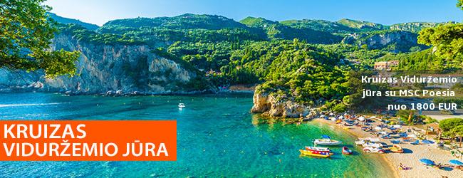 Romantiškos atostogos VIDURŽEMIO JŪROS KRUIZE! 12 n. kelionė prabangiu laivu MSC POESIA su pilnu maitinimu – nuo 1350 EUR! Kelionės data: 2019 m. spalio 10 d.