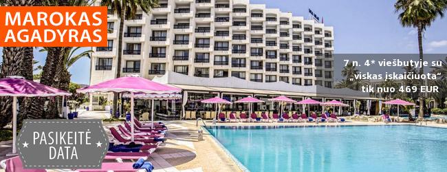 Poilsis netoli paplūdimio egzotiškame MAROKE, Agadyre! Savaitė 4* viešbutyje ROYAL MIRAGE AGADIR su pusryčiais ir vakarienėmis – nuo 676 EUR! Kelionės data: 2019 m. vasario 28 d.