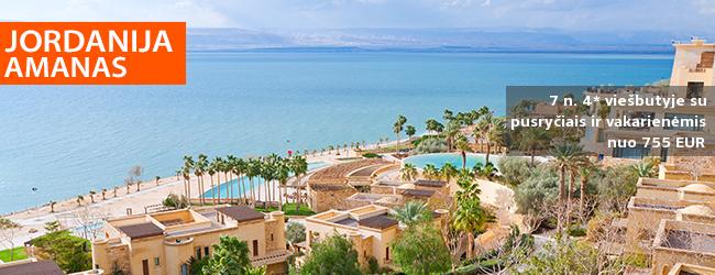 Atpalaiduojantis poilsis prie Negyvosios jūros JORDANIJOJE! 7 n. 4* viešbutyje DEAD SEA SPA HOTEL su pusryčiais ir vakarienėmis – nuo 755 EUR! Kelionės data: 2019 m. kovo 18 d.