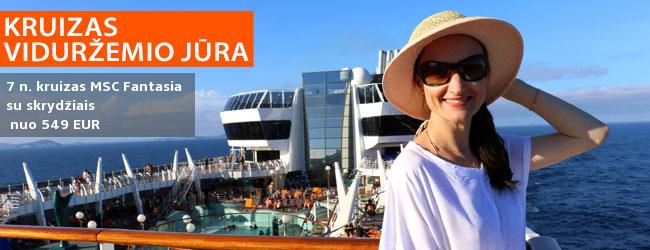 Kruizas MSC Fantasia laivu, aplankant Italiją, Ispaniją, Prancūziją – nuo 599 EUR! Kelionės data: 2020 m. gegužės 23 d.