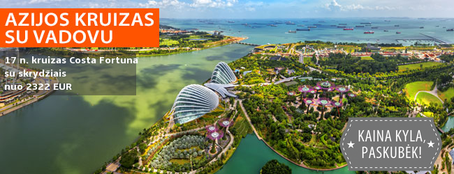 Kruizu iš Singapūro, aplankant Malaiziją, Tailandą ir Kambodžą su lietuviškai kalbančiu vadovu! Į kainą įskaičiuoti skrydžiai – nuo 2322 EUR/asm. Kelionės data: 2020 m. vasario 23 d.