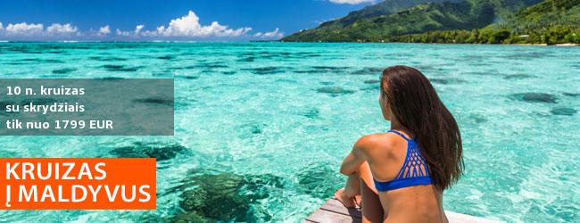 Leiskitės į tolimą kelionę iš Mumbajaus ir pailsėkite Maldyvuose! 7 naktų kruizas COSTA VICTORIA laivu ir 3 naktys Maldyvuose - tik nuo 1379 EUR! Kaina su skrydžiais! Data: 2020 m. lapkričio 13 d.