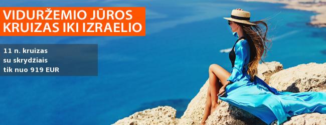 Pasiekite Izraelį 12 dienų kelionėje MSC Opera kruizu, aplankydami Italiją, Graikiją ir Kiprą. Galite pasirinkti kelionę, kai į kainą įskaičiuoti skrydžiai ir pervežimai – nuo 619 EUR! Išvykimas: 2019 m. gruodžio 12 d.