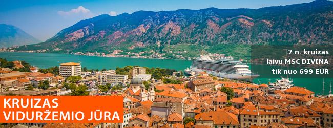 Sutaupykite planuodami iš anksto! 7n. Viduržemio jūros kruizas MSC Divina laivu, aplankant Italiją, Ispaniją, Prancūziją - nuo 489 EUR! Galima pasirinkti ir pilną kelionės paketą! Išvykimas: 2020 m. gegužės 23 d.
