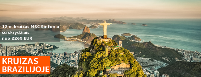 Kruizas Brazilijoje, Argentinoje ir Urugvajuje su poilsiu Rio de Žaneire, skrydžiais ir pervežimais, Costa Pacifica laivu - nuo 2269 EUR! Kelionės data: 2020 m. vasario 12 d.