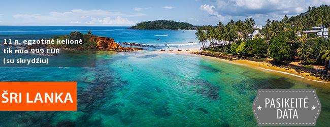 Paskutinės minutės pasiūlymas pasimėgauti egzotišku poilsiu Šri Lankos paplūdimiuose! 11 n. pasirinktame viešbutyje tik nuo 1139 EUR! Kaina su skrydžiu! Kelionės data: 2019 m. spalio 27 d.