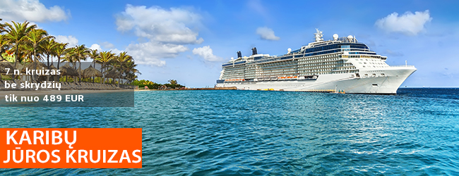 7 n. KRUIZAS po Karibų salas su 2019 m. laivu MSC MERAVIGLIA – nuo 489 EUR! Išvykimas: 2020 m. kovo 8 d.