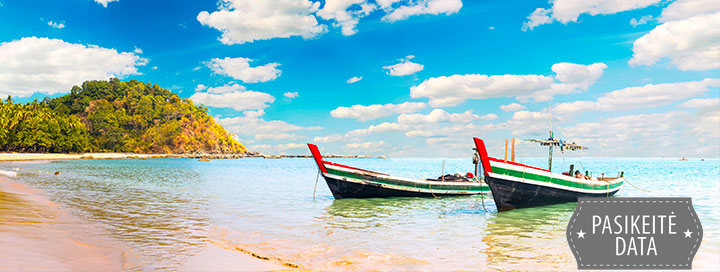 IŠSKIRTINIS PASIŪLYMAS! Neatrastas Mianmaras su poilsiu Ngapalyje už ypatingą kainą. Pažintinė - egzotinė kelionė į Mianmarą su poilsiu ir lietuviškai kalbančiu vadovu - nuo 2440 EUR ! Kelionės data: 2020 m. lapkričio 7 d.