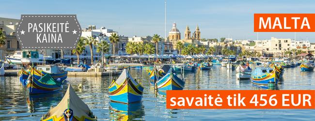Idiliškas poilsis Maltoje: savaitė 4* viešbutyje nuo 456 EUR. Išvykimas: rugpjūčio 29 d.