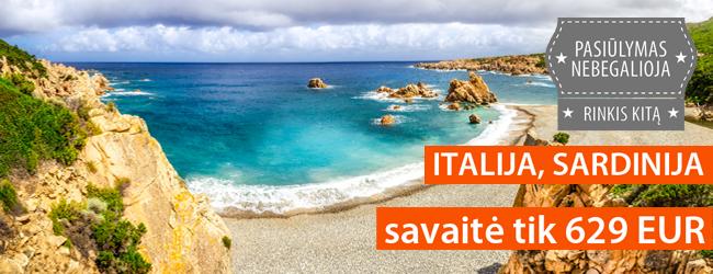 Smaragdo spalvos jūra ir auksinis smėlis Italijoje, Sardinijoje. 7 naktys 4* viešbutyje su pusryčiais ir vakarienėmis tik 629 EUR. Išvykimas: rugsėjo 14 d.