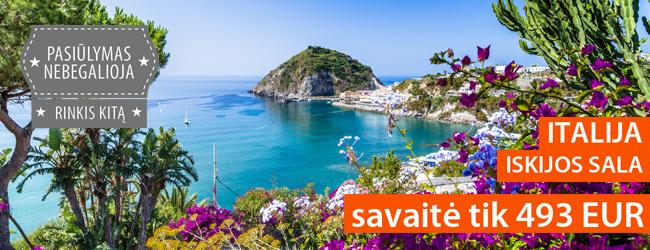 Romantiškos atostogos Iskijos saloje, Italijoje. Savaitė jaukiame 3* viešbutyje su pusryčiais ir vakarienėmis tik 493 EUR. Kelionės data: rugsėjo 19 d.