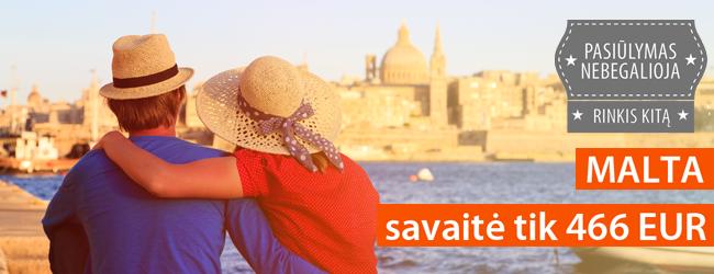 Išsiilgusiems romantikos: rudens pradžia jaukiame 4* viešbutyje Maltoje. 7 naktys nuo 474 EUR. Išvykimas: rugsėjo 1 d.