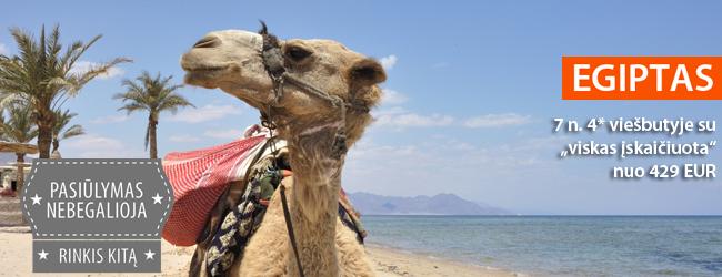 """Vasariškos pramogos prie Raudonosios jūros. Savaitė Egipte, 4* viešbutyje su """"viskas įskaičiuota"""", tik 352 EUR. Rugpjūčio-rugsėjo datos"""