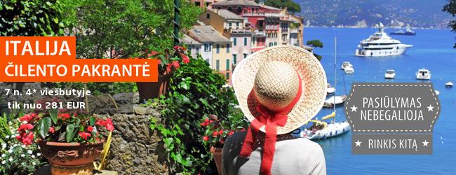 Ramus poilsis Italijoje, Čilento pakrantėje. 7 naktys jaukiame 4* viešbutyje tik nuo 485 EUR. Išvykimas: rugsėjo 5 d.