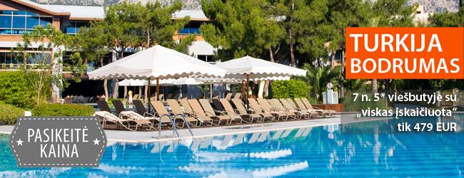 """Komfortiškas poilsis puikiame 5* viešbutyje Turkijoje! 7 naktys su """"viskas įskaičiuota"""" tik 479 EUR. Išvykimas: spalio 7 d."""