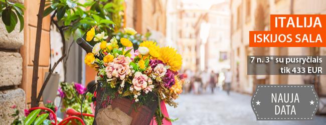 Įsimintinos atostogos Iskijos saloje, Italijoje. Savaitė 3* viešbutyje tik nuo 455 EUR. Išvykimo data: rugsėjo 5 d.