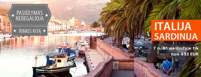 Pasakiškas ruduo įspūdingo grožio Italijos saloje – Sardinijoje. 7 nakvynės tik nuo 500 EUR. Rugsėjo-spalio datos.