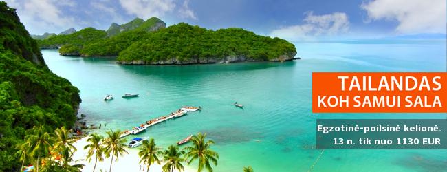 Poilsis nepakartojamo grožio Tailando saloje – Koh Samui. 13 nakvynių su pusryčiais tik nuo 1130 EUR. Lapkričio datos