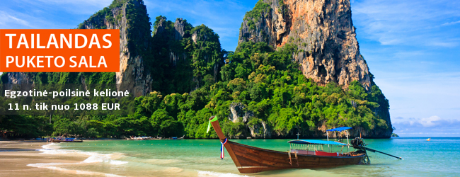 Sausio šaltuką išmainykite į egzotišką poilsį Tailande, Puketo saloje. Galimybė apsistoti privačioje viloje su baseinu! 11 nakvynių 4-5* viešbučiuose su pusryčiais nuo 1088 EUR. Sausio 13 d.