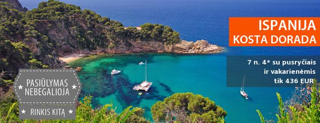 Svajonių atostogos temperamentingoje Ispanijoje, Kosta Dorados pakrantėje! 7 nakvynės 4* viešbutyje ant jūros kranto su pusryčiais ir vakarienėmis tik 333 EUR! Išvykimas: 2017 m. gegužės 7 d.