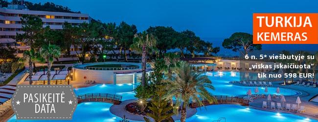 """Prabangus poilsis! Praleisk 6 n. puikiame 5* viešbutyje RIXOS PREMIUM TEKIROVA, Kemere, Turkijoje su """"ultra viskas įskaičiuota"""" - tik nuo 473 EUR! Kelionės data: 2018 m. balandžio 20 d."""