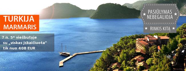 Pasitikite vasarą Turkijoje! Nepamirštamos šeimos atostogos Marmario regione esančiame 5* viešbutyje tik nuo 408 EUR. Išvykimas: 2017 m. gegužės 31 d.