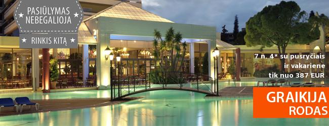 Autentiškos vasaros atostogos Rodo saloje: savaitė prabangiame 4* viešbutyje su pusryčiais tik nuo 375 EUR! Kelionės data: 2017 m. liepos 3 d.