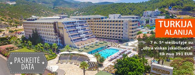 """NEPAMIRŠTAMOS ŠEIMOS ATOSTOGOS TURKIJOJE! Savaitės poilsis 5* viešbutyje su """"viskas įskaičiuota"""" tik nuo 371 EUR! Išvykimas: 2017 m. birželio 9 d."""