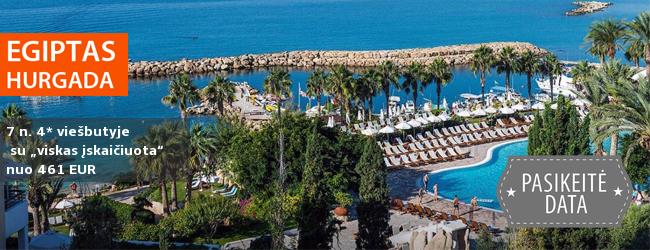 """NAUJŲJŲ METŲ SUTIKIMAS EGIPTE ir ilgos,14-os nakvynių, atostogos! Dvi savaitės gerame 4* viešbutyje su """"viskas įskaičiuota"""" tik nuo 703 EUR! Kelionės data: gruožio 31 d."""
