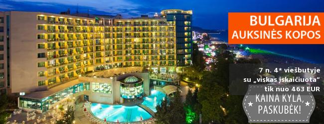 """Kokybiškas poilsis SU ŠEIMA BULGARIJOJE: savaitė labai gerame 4* viešbutyje su """"viskas įskaičiuota"""" tik nuo 383 EUR! Išvykimas: 2017 m. birželio 12 d."""