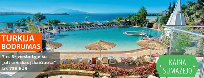 """IŠANKSTINIAI PARDAVIMAI: planuokite savo rugsėjo atostogos jau dabar! 7 nakvynės gerame 5* viešbutyje Turkijoje su  """"ultra viskas įskaičiuota"""" tik nuo 404 EUR. Kelionės data: 2017 m. rugsėjo 22 d."""