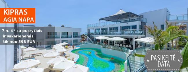 IŠPARDAVIMAI - išskirtiniai pasiūlymai tik šią savaitą! Šiltos atostogos populiariausiame Kipro salos kurorte – Agia Napoje! Savaitė stilingame 4* viešbutyje su pusryčiais ir vakarienėmis - dabar tik nuo 384 EUR. Kelionės data: 2017 m. spalio 19 d.