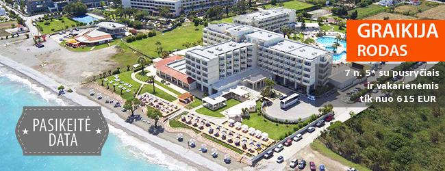 Žavingos atostogos Rodo saloje! Savaitė prabangiame 5* viešbutyje ant jūros kranto su pusryčiais ir vakarienėmis – vos nuo 463 EUR! Kelionės data: 2017 m. spalio 7 d.
